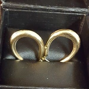 14k Real Gold Hoops, 1.22grs